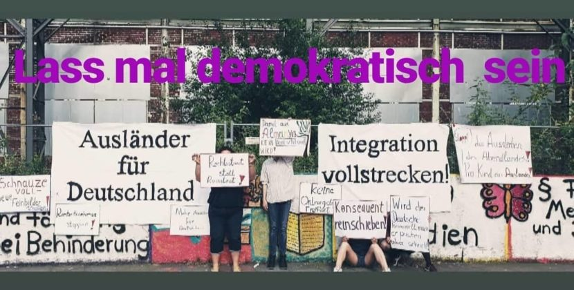 Integration vollstrecken! Integration für Deutsche!