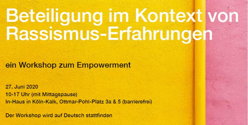 27.06.2020: Beteiligung im Kontext von Rassismus-Erfahrungen