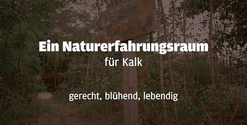 Naturerfahrungsraum: Ein Infoveranstaltung in Kalk
