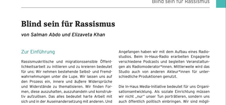 Rassismus?: Blind sein! (Publikation)
